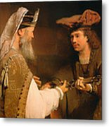 Ahimelech Giving The Sword Of Goliath To David Metal Print