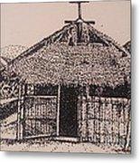 Ahka Village Church Metal Print