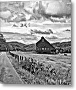 Ah...west Virginia Oil Bw Metal Print