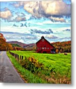 Ah...west Virginia Painted Metal Print