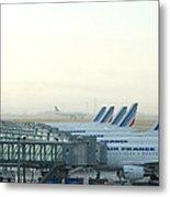 Air France Paris Cdg Metal Print