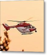 Airborne Eurocopter Bk 117 -  Rescue Helicopter Metal Print