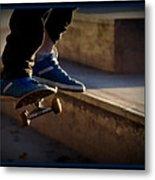 Airborne Skateboarder Metal Print
