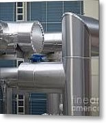Airconditioning Cooling Pipes Metal Print