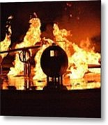 Airforce Fire Deparment Training Metal Print