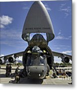 Airmen And Soldiers Load A Ch-47 Metal Print