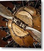 Airplane Motor Metal Print