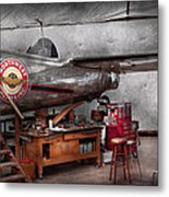 Airplane - The Repair Hanger  Metal Print