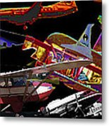 Airplanes Collage  Metal Print