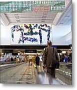 Airport Dreadmill Metal Print