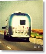 Airstream Rolling Down The Highway Metal Print