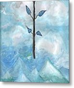 Airy Ace Of Wands Metal Print
