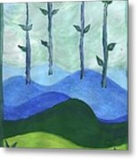 Airy Four Of Wands Metal Print