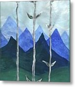 Airy Three Of Wands Metal Print