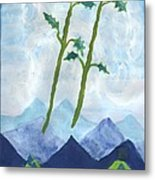 Airy Two Of Wands Metal Print