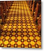 Church Aisle Patterned Floor Metal Print