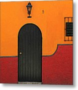 Ajijic Door No.4 Metal Print