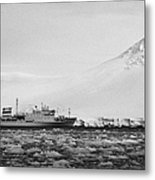 Akademik Sergey Vavilov Russian Research Ship In Port Lockroy As Brash Sea Ice Forming Winter Closin Metal Print