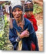 Akha Tribe II Paint Filter Metal Print