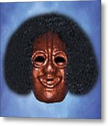 Akineu God Of Tricks Mask Metal Print