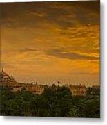 Akshardham Temple Sunset Metal Print