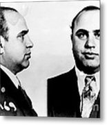 Al Capone Mug Shot Metal Print by Edward Fielding