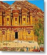 Al-dayr Or The Monastery In Petra-jordan  Metal Print