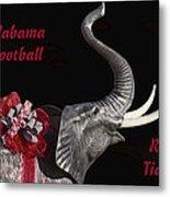 Alabama Football Roll Tide Metal Print by Kathy Clark