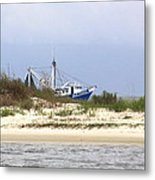 Alabama - Gulf Of Mexico Shrimper - Beautiful Day For Fishing Metal Print