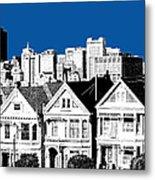 Alamo Square -  Royal Blue Metal Print