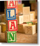 Alan - Alphabet Blocks Metal Print