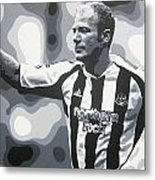 Alan Shearer - Newcastle United Fc Metal Print