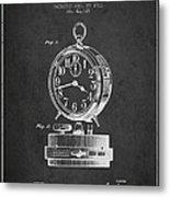 Alarm Clock Patent From 1911 - Dark Metal Print