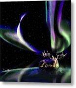 Alaska Aurora Unpredictable Spirals # Da 099  Metal Print