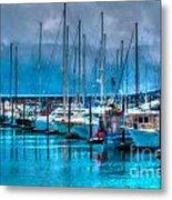 Alaska Boats Metal Print