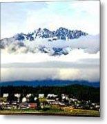 Alaska Coastal Village Metal Print