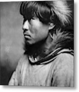 Alaska Eskimo Man, C1906 Metal Print