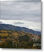 Alaska Highway At Lewes River Bridge  Metal Print