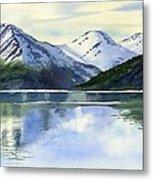 Alaska Mountain Reflections Metal Print