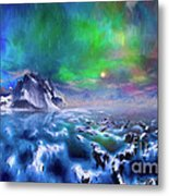 Alaska Northern Lights  Metal Print