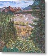 Alaska Range   Early Fall Metal Print