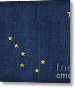 Alaska State Flag Metal Print by Pixel Chimp