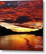 Alaska Sunset Metal Print