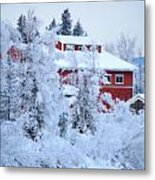 Alaskaland Train Station I Metal Print
