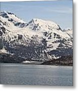 Alaskan Mountain Seaside Metal Print