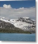 Alaskan Snow Covered Mountian Metal Print