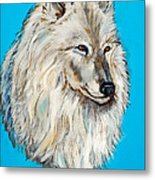 Alaskan White Wolf Original Forsale Metal Print