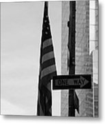 Albany Street In Black And White Metal Print