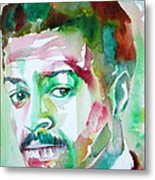 Albert Ayler - Watercolor Portrait Metal Print