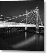 Albert Bridge At Night  Metal Print